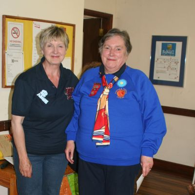 Jan (left) with the County Chairman of the Norfolk Guiding Guild